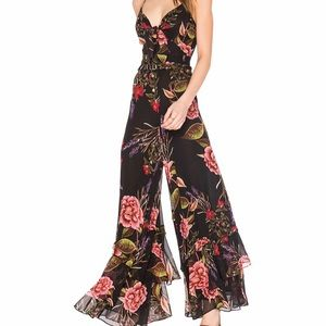 Nicholas NWT Peony Floral Spiral Jumpsuit. Size 2.